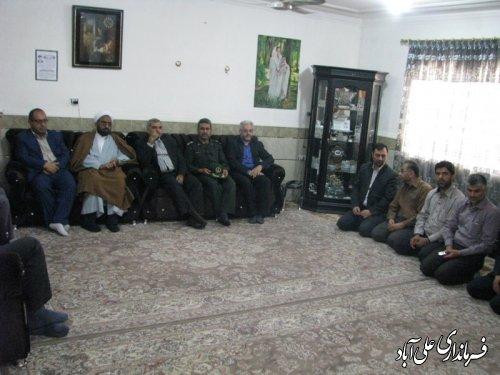 دیدار فرماندار ومدیرکل کمیته امدادامام خمینی (ره)گلستان ازخانواده های تحت پوشش