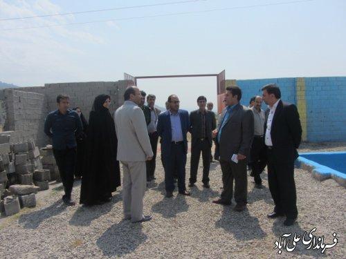 بازدید ازمکان دومین مرکز اقامتی میان مدت شهرستان علی آباد کتول