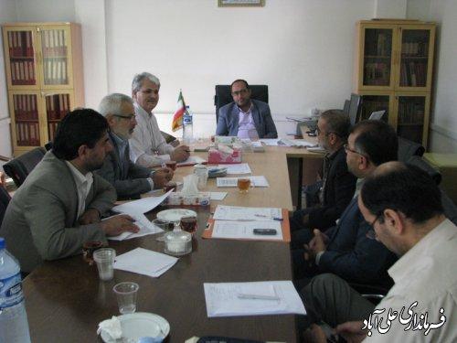 برگزاری جلسه شورای هماهنگی ثبت وقایع حیاتی شهرستان علی آباد کتول