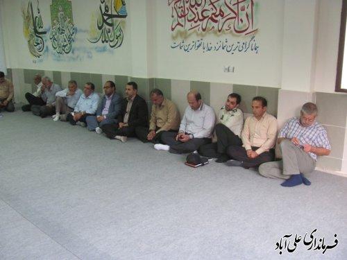 نشست فرمانداربا شهردارواعضای شورای شهرجد ید مزرعه