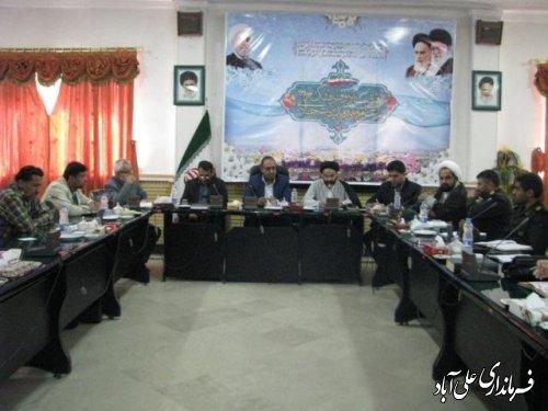 جلسه شواری هماهنگی تبلیغات اسلامی دهه امامت وولایت درفرمانداری
