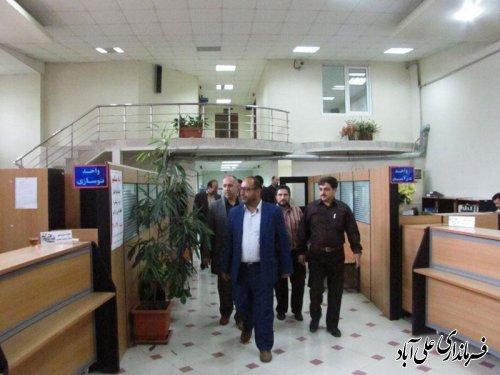 بازدید سرزده فرماندار از شهرداری علی آباد کتول