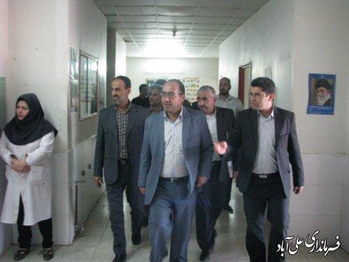 بازدید فرماندارازمراکز بهداشتی شهرستان علی آباد کتول