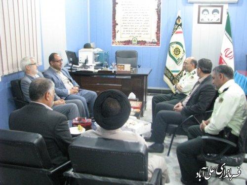 بازدید فرماندار علی آباد کتول از کلانتریهای شهرستان