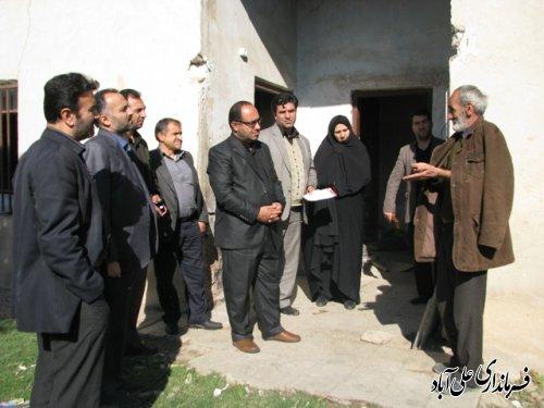 بازدید فرماندار علی آباد کتول ازخانواده های نیازمند