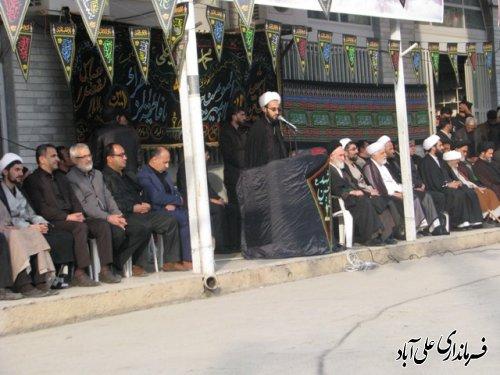 مراسم تعویض پرچم تبرک امام حسین(ع) درعلی آباد کتول