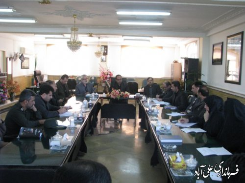 جلسه انجمن کتابخانه های عمومی شهرستان علی آباد کتول برگزارشد