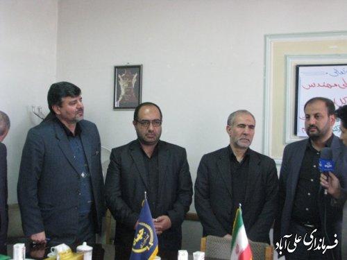 حضور مشاور وزیر جهاد کشاورزی و معاون امور مجلس درعلی آباد کتول