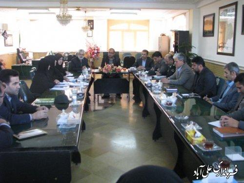 جلسه آیین نامه فوریتهای اجتماعی درفرمانداری علی آباد کتول برگزار شد