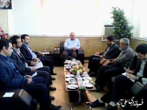 دیدار مدیر کل ارتباطات وفناوری اطلاعات استان گلستان بافرماندار علی اباد کتول