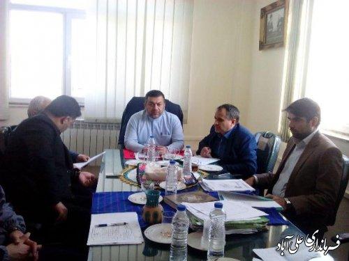 جلسه کمیسیون امنیت انتخابات شهرستان علی آباد کتول برگزار شد