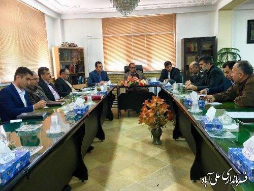 دومین جلسه ستاد اجرایی خدمات سفر شهرستان علی آباد کتول برگزار شد