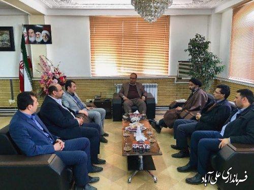 دیدار مدیر کل راه و شهر سازی استان گلستان با فرماندارعلی آباد کتول