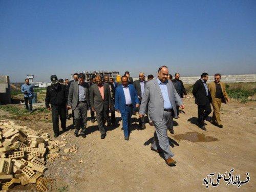بازدید مسئولین عالی سازمان زندانها از اردوگاه کاردرمانی علی آبادکتول