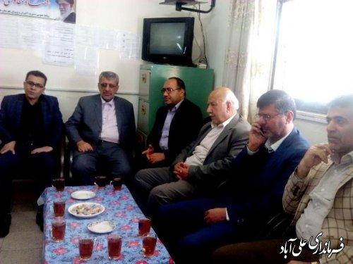 بازدید فرماندار از ستاد اسکان نوروزی فرهنگیان علی آباد کتول