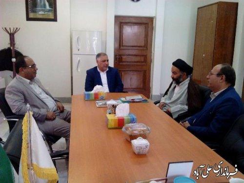 دیدار فرماندار علی آبادکتول با رئیس امور شعب بانک ملی شرق استان