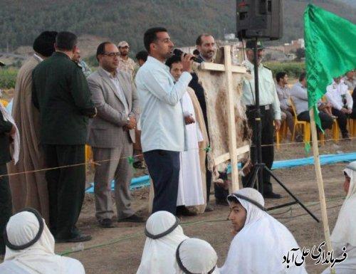 «واقعه غدیر» در علی آباد کتول بازسازی شد