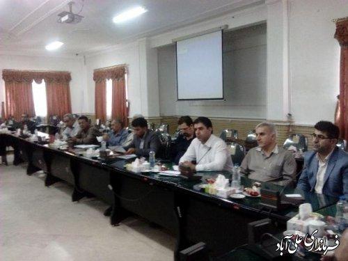 جلسه کارگروه سلامت و امنیت غذایی شهرستان علی آباد کتول برگزارشد