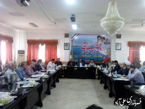 جلسه شورای هماهنگی ستاد بزرگداشت اربعین حسینی علی آباد کتول برگزار شد