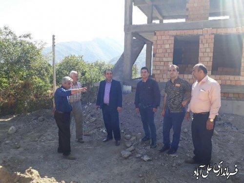بازدید بیکی بخشدار کمالان از روستای کوهستانی شهرفاضل آباد