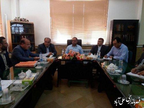 جلسه مشکلات شهرک پردیس سیاه رودبار بخش مرکزی علی آباد کتول  برگزارشد