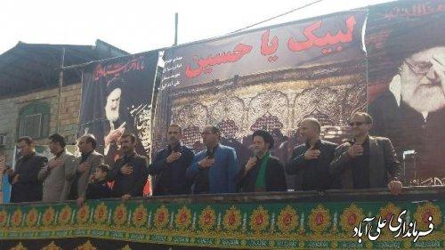 مراسم سوگواری عاشورای حسینی در شهرستان علی آباد کتول برگزار شد