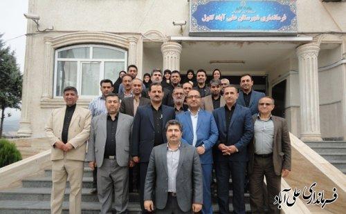 خداحافظی احمد تجری مفرد فرماندارسابق با کارکنان فرمانداری