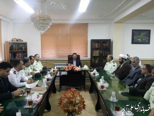 دیدار فرماندهی و پرسنل نیروی انتظامی علی آباد کتول با فرماندار شهرستان