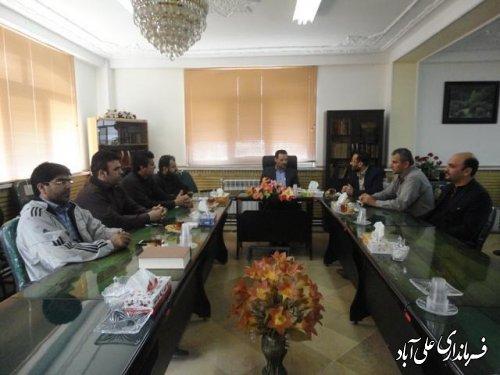 دیدار سرپرست بنیاد مسکن شهرستان به اتفاق همکاران با فرماندار علی آباد کتول