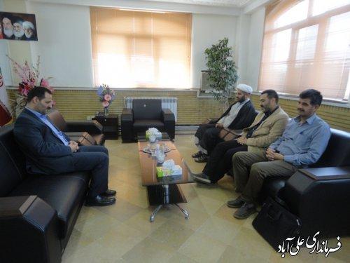 دیدار مدیران و مسئولین ادارات شهرستان با فرماندار علی آباد کتول