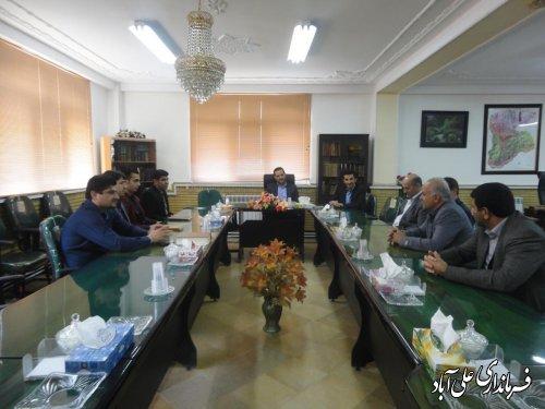 دیدار رئیس ناحیه صنعتی شهرستان علی آباد کتول با فرماندار