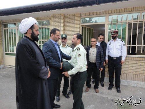 بازدید فرماندار علی آباد کتول از پاسگاه انتظامی به مناسبت هفته نیروی انتظامی