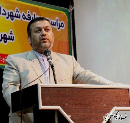 آیین معارفه شهردار جدید علی آباد کتول برگزار شد