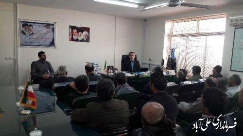 جلسه انتخاب اعضای شورای بخش مرکزی علی آبادکتول برگزار شد