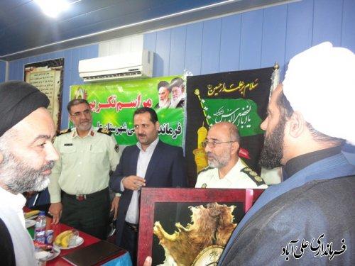 مراسم تکریم فرمانده نيروي انتظامي شهرستان علي آباد كتول برگزارشد