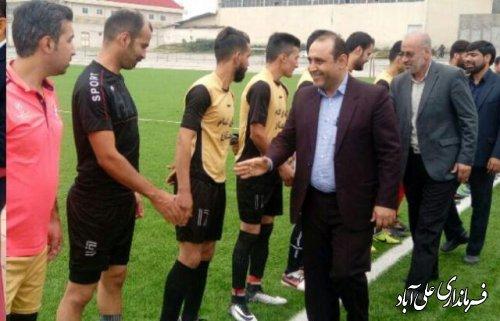 حضور بیکی بخشدار کمالان در مسابقات فوتبال کمالان