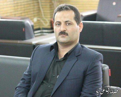 فرماندار علی آباد کتول در پیامی هفته پدافند غیرعامل را تبریک گفت
