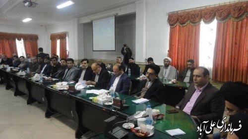 مراسم معارفه امام جمعه جدید شهر علی آباد کتول در شورای اداری شهرستان برگزارشد