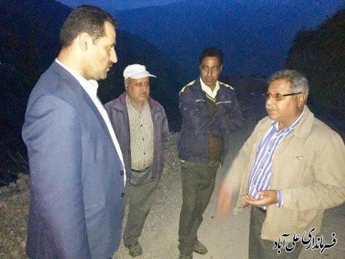 بازدید فرماندار از پروژه آسفالت راه های روستای دهنه محمد آباد