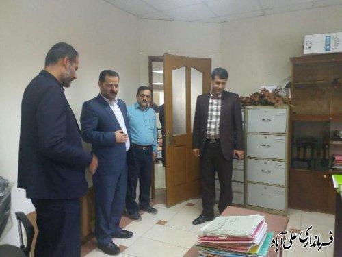 بازدید فرماندار شهرستان از شهرداری علی آباد