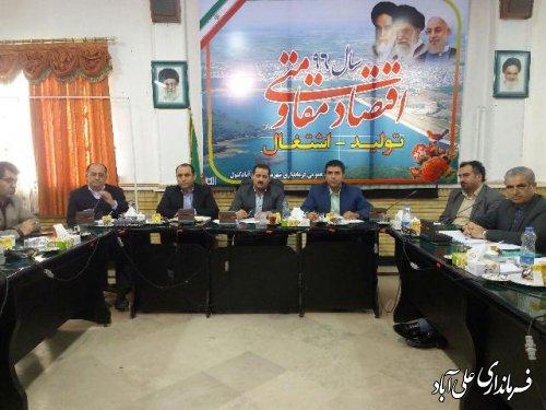 جلسه کارگروه سلامت و امنیت غذایی در فرمانداری علی آباد کتول برگزارشد