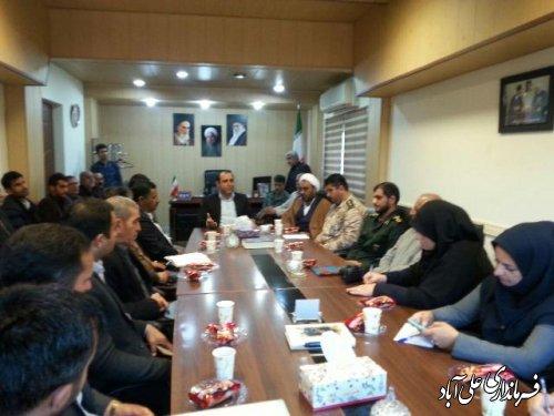 جلسه هماهنگی هفته بسیج در بخش کمالان برگزار شد