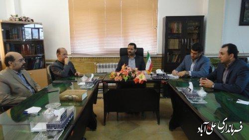 دیدار مدیر عامل شرکت آب منطقه ای گلستان با فرماندارعلی آباد کتول