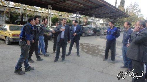 بازدید هدایتی فرماندارعلی آباد کتول از کارخانه خاوردشت