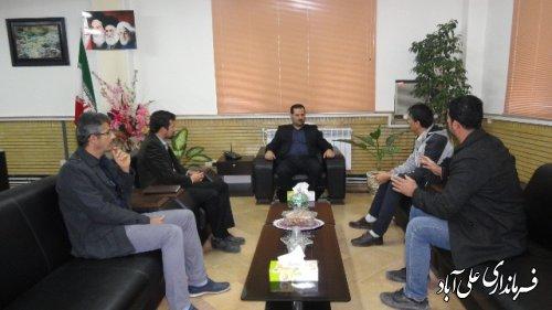 دیدار اعضای شورا و دهيار روستای افراتخته با فرماندار علی آباد کتول