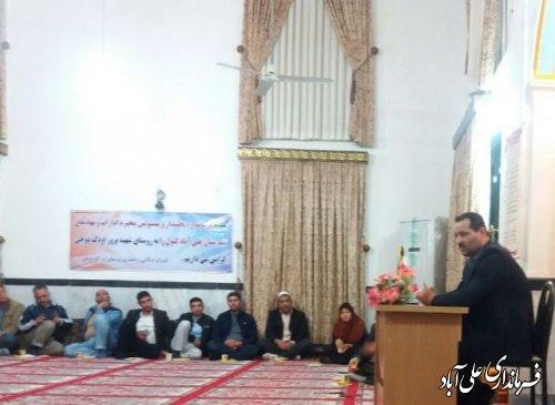 دیدار فرماندار ومسئولین شهرستان علی آباد کتول با مردم روستای اودک دوجی