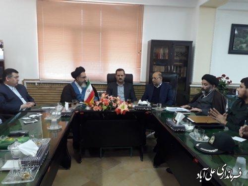 جلسه برنامه ریزی برگزاری راهپیمایی در محکومیت آشوبگران در فرمانداری علی آباد کتول