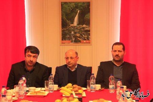 جلسه بررسی و رفع موانع و مشکلات پروژه تله کابین علی آباد کتول برگزار شد