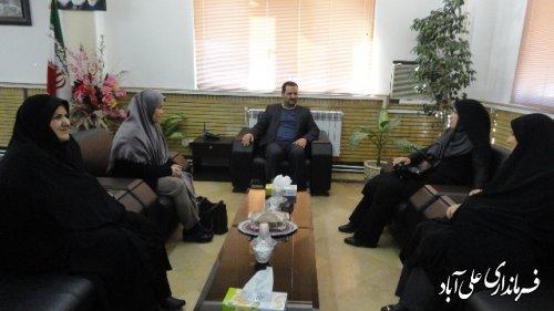 دیدار مدیرکل امور بانوان و خانواده استانداری گلستان با فرماندار علی آباد کتول
