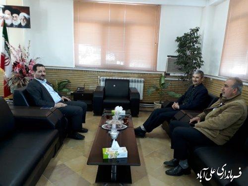 دیدار رئیس اداره راهداری وحمل ونقل جاده ای با فرماندار علی اباد کتول